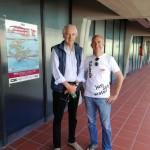 Ciro Dell'Anno con Roberto Gambuti - regista Rai-